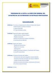 programa de la visita a la dirección general del catastro de las ...