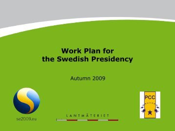 Work plan. - Permanent Committee on Cadastre in the European ...