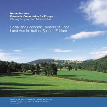 Social and Economic Benefits of Good Land Administration
