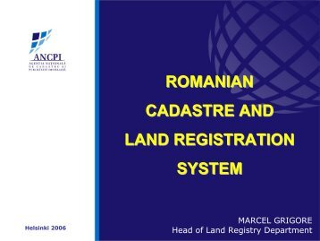 Romania - Permanent Committee on Cadastre in the European Union