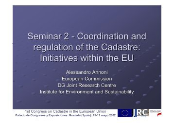 Seminar 2 - Permanent Committee on Cadastre in the European ...