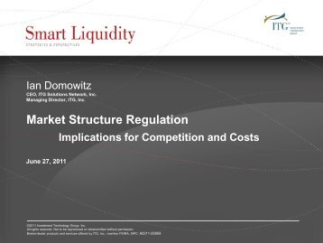 Ian Domowitz - European Capital Markets Institute