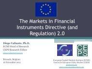 Presentation - European Capital Markets Institute