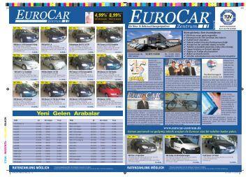 Yeni Gelen Arabalar - Eurocar Landshut