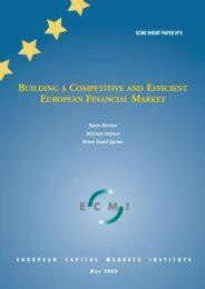 Building a competitive and efficient European financial market