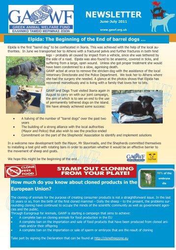 Newsletter of GAWF (June-July 2011) - EuroCharity