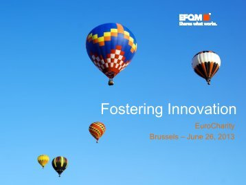 Fostering Innovation - EuroCharity