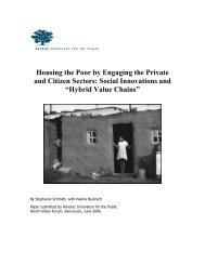 Housing the Poor by Engaging the Private and Citizen ... - Ashoka