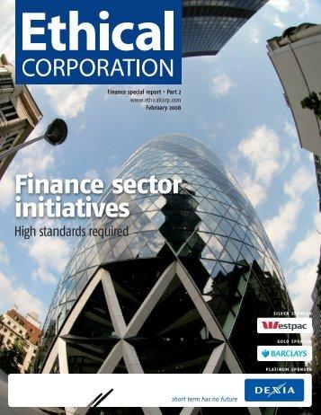 Sustainable Finance 2008 Banks go Green Part 2 - EuroCharity