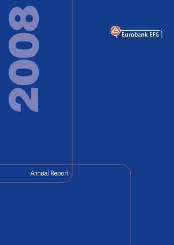 EFG Eurobank Ergasias S.A. Annual Report 2008 - EuroCharity