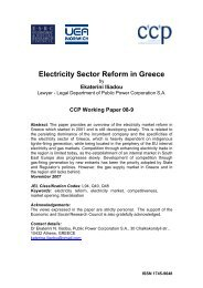 Electricity Sector Reform in Greece - University of East Anglia