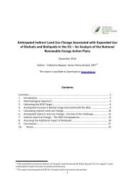 Anticipated Indirect Land Use Change Associated with ... - EuroCharity