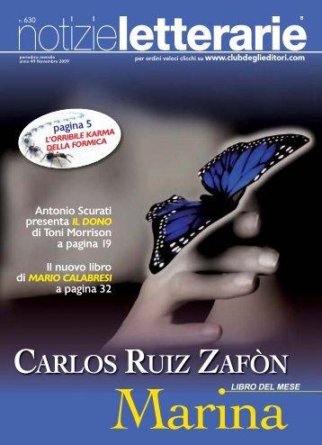 Catalogo Notizie Letterarie n. 630 Novembre 2009 - Euroclub