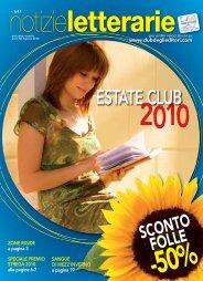 Catalogo Notizie Letterarie n° 641 Agosto 2010 - Euroclub