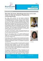 Blick über die Grenze: Behandlung eines Ulcus cruris in ... - eurocom