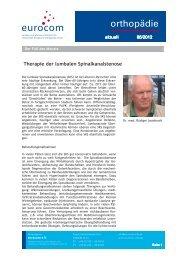 orthopädie aktuell Juni 2012 - eurocom