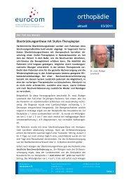 orthopädie aktuell März 2011 - eurocom