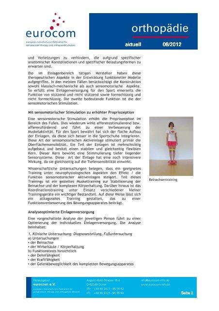 orthopädie aktuell August 2012 - eurocom