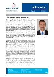 orthopädie aktuell Februar 2012 - eurocom