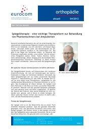 orthopädie aktuell April 2012 - eurocom