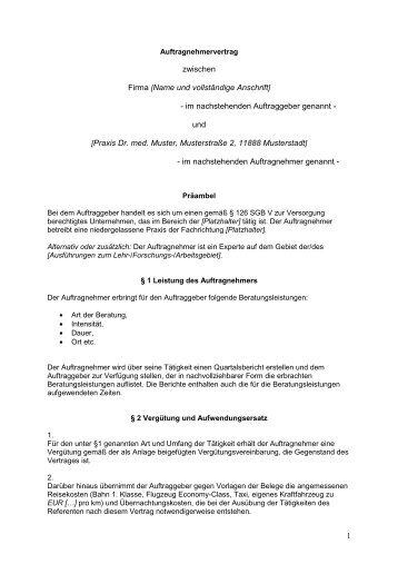 Auftragnehmervertrag Eurocom