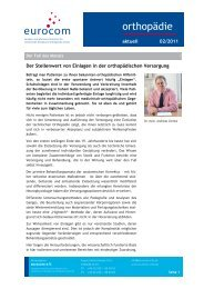 orthopädie aktuell Februar 2011 - eurocom