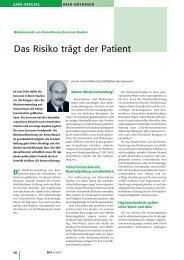 Das Risiko trägt der Patient - eurocom