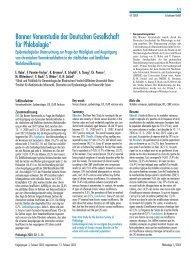 Bonner Venenstudie der Deutschen Gesellschaft für ... - eurocom