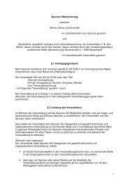 Sponsor-/Werbevertrag zwischen [Firma, Name und ... - eurocom