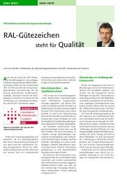 RAL-Gütezeichen - eurocom