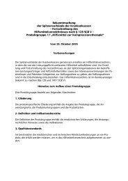 Bekanntmachung der Spitzenverbände der Krankenkassen - eurocom