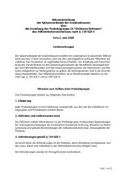 Produktgruppe 23 - GKV-Spitzenverband