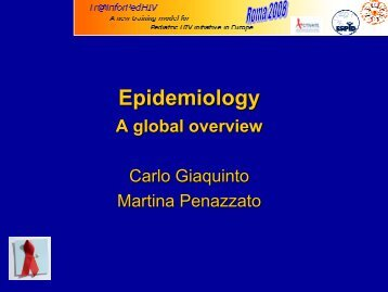 global overview - Carlo Giaquinto - EuroCoord