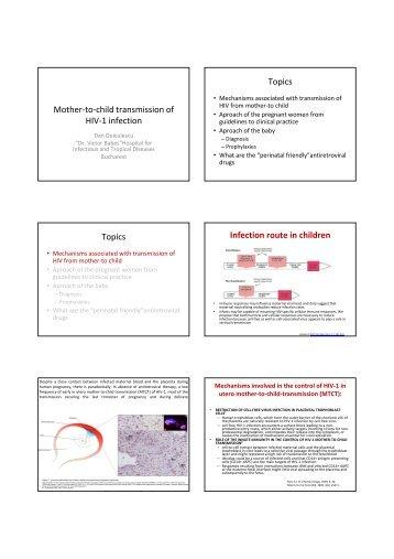 Vertical Transmission of HIV - Dan Duiculescu - EuroCoord