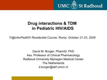 Drug Interactions - David Burger - EuroCoord