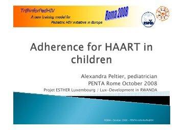 Alexandra Peltier, pediatrician PENTA Rome October ... - EuroCoord