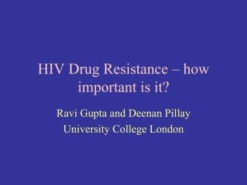 Resistance to ART - Ravi Gupta - EuroCoord