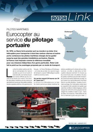 Eurocopter au service du pilotage portuaire