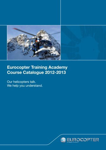 Eurocopter Training Academy Course Catalogue 2012-2013