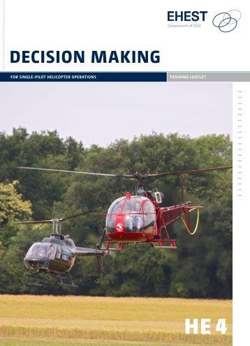 EHEST Single Pilot Decision Making - Eurocopter