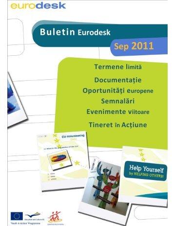 Buletin Eurodesk - Septembrie 2011