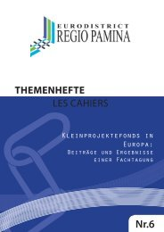praktischen Format eines Themenheftes - Regio Pamina