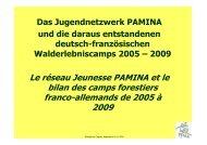 Deutsch-Französische Walderlebniscamps - Regio Pamina