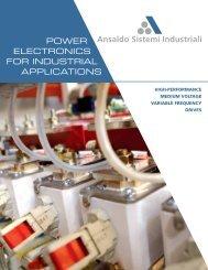 Brochure Medium Voltage Drives - Ansaldo Sistemi Industriali