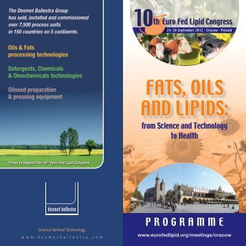 Scientific Programme (printed Brochure, 2,6 MB .pdf) - Euro Fed Lipid