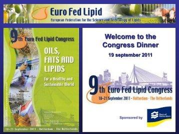 Marc Kellens Dinner Presentation - Euro Fed Lipid