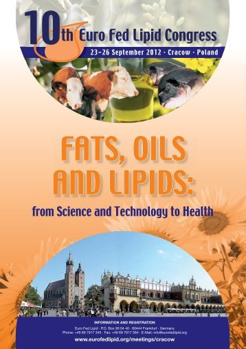 Download the call for papers (.pdf) - Euro Fed Lipid