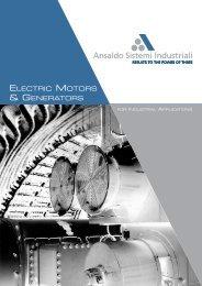 Brochure Electric Motors & Generators - Ansaldo Sistemi Industriali