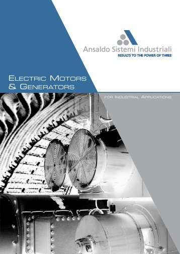 Brochure Electric Motors & Generators - Ansaldo Sistemi Industriali