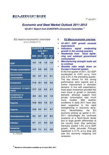 Economic and Steel Market Outlook 2011-2012 - Eurofer